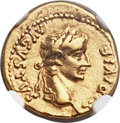 Ancients:Roman Imperial, Ancients: Tiberius (AD 14-37). AV quinarius (16mm, 3.91 gm, 12h)....