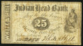 Obsoletes By State:New Hampshire, Nashua, NH- White & Hill at Indian Head Bank 25¢ Oct. 1, 1862. ...