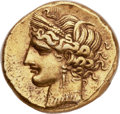 Ancients:Greek, Ancients: ZEUGITANIA. Carthage. Time of First Punic War, ca. 264-241 BC. EL trihemistater (23mm, 10.89 gm, 11h)....