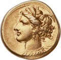 Ancients:Greek, Ancients: ZEUGITANIA. Carthage. Ca. 320-270 BC. EL stater (19mm, 7.56 gm, 12h)....