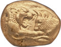 Ancients:Greek, Ancients: LYDIAN KINGDOM. Croesus (ca. 561-546 BC). AV stater(18mm, 10.77 gm)....
