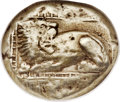 Ancients: IONIA. Miletus. Ca. 600-550 BC. EL stater (20mm, 13.96 gm)