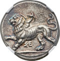 Ancients:Greek, Ancients: SICYONIA. Sicyon. Ca.400-323 BC. AR stater (25mm, 12.27gm, 12h)....