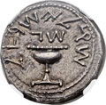 Ancients:Judaea, Ancients: JUDAEA. The Jewish War (AD 66-70). AR shekel (23mm, 14.19gm, 11h)....