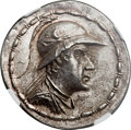 Ancients:Greek, Ancients: GRECO-BACTRIAN KINGDOM. Eucratides I the Great (ca. 170-145 BC). AR tetradrachm (35mm, 17.11 gm, 12h)....