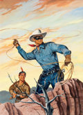 Original Comic Art:Covers, Hank Hartman The Lone Ranger #73 Cover Painting Original Art(Dell, 1954)....