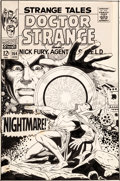 Original Comic Art:Covers, Dan Adkins Strange Tales #164 Cover Doctor Strange OriginalArt (Marvel, 1968)....