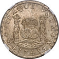 Mexico: Philip V 8 Reales 1745 Mo-MF MS64 NGC