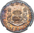 Mexico, Mexico: Philip V 2 Reales 1747 Mo-M AU Details (Artificial Toning)NGC,...