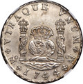 Mexico, Mexico: Philip V 8 Reales 1744/34 Mo-MF UNC Details (SurfaceHairlines) NGC,...