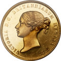 Great Britain, Great Britain: Victoria gold Proof Una & the Lion 5 Pounds 1839PR Genuine PCGS,...