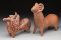 Ceramics & Porcelain, Two Iranian Amlash Region Pottery Figural Vessels, early 1st millennium BC. 11 inches high x 13 inches wide (27.9 x 33.0 cm)... (Total: 2 Items)