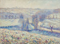 Fine Art - Painting, European:Modern  (1900 1949)  , Albert Joseph (French, 1868-1952). Paysage d'hiver enCreuse, 1905. Oil on canvas. 19 x 26 inches (48.3 x 66.0 cm).Sign...