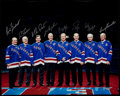 Hockey Collectibles:Photos, New York Rangers Greats Multi Signed Oversized Photograph. ...