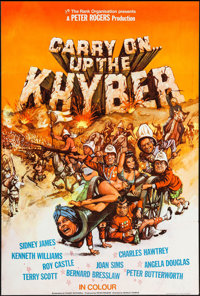 """Carry On Up the Khyber (Rank, 1968). British One Sheet (26.75"""" X 39.5""""). Comedy"""