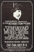 "Movie Posters:Rock and Roll, Stoneground at the Resurrection Ballroom (Implosion, 1972). ConcertPoster (14"" X 21.5""). Rock and Roll.. ..."