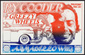 """Movie Posters:Rock and Roll, Ry Cooder with Greezy Wheels at the Armadillo World Headquarters(AWH, 1974). Concert Poster (11"""" X 17""""). Rock and Roll.. ..."""