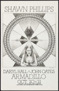 "Movie Posters:Rock and Roll, Shawn Phillips with Daryl Hall & John Oates at the Armadillo World Headquarters (AWH, 1975). Concert Poster (11"" X 17""). Roc..."