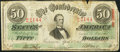 Confederate Notes:1863 Issues, T57 $50 1863 PF-8 Cr. 414.. ...