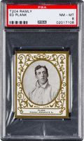 Baseball Cards:Singles (Pre-1930), 1909 T204 Ramly Ed Plank PSA NM-MT 8....