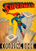 Memorabilia:Comic-Related, Superman Coloring Book #1501 (DC/Saalfield, 1940) Condition: GD/VG....