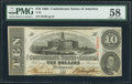 Confederate Notes:1863 Issues, T59 $10 1863 PF-8 Cr. 434.. ...