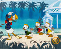 Animation Art:Limited Edition Cel, Mr. Duck Steps Out Donald Duck and Nephews Sericel (WaltDisney, 1988)....