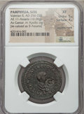 Ancients:Roman Provincial , Ancients: PAMPHYLIA. Side. Valerian II Caesar (AD 256-258). AE 5assaria (16.08 gm)....
