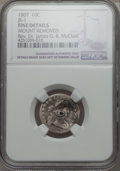 Early Dimes, 1807 10C JR-1, R.2, -- Mount Removed -- NGC Details. Fine. Ex: Rev.Dr. James G. K. McClure. NGC Census: (7/220). PCGS ...