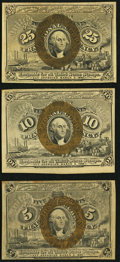 Fractional Currency:Second Issue, Second Issue Extremely Fine or Better.. ... (Total: 3 notes)