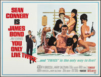"You Only Live Twice (United Artists, 1967). Subway (45"" X 59.5""). James Bond"