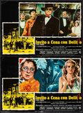"Movie Posters:Comedy, Murder by Death (Columbia, 1976). Italian Photobusta Set of 10 (18""X 26""). Comedy.. ... (Total: 10 Items)"