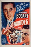 "Movie Posters:Crime, Call It Murder (Guaranteed Pictures, R-1947). One Sheet (27"" X 41"")Flat Folded. Crime. Original Title: Midnight.. ..."