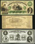 Obsoletes By State:Louisiana, Trio of New Orleans Obsolete Bank Notes ca, 1858-61. ... (Total: 3 notes)