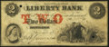 Obsoletes By State:Rhode Island, Providence, RI- Liberty Bank Counterfeit $2 Dec. 10, 1859. ...