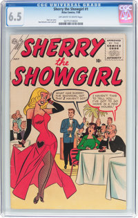 Sherry the Showgirl #1 (Atlas, 1956) CGC FN+ 6.5 Off-white to white pages