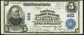 National Bank Notes:Pennsylvania, Reading, PA - $5 1902 Plain Back Fr. 598 The National Union BankCh. # 693. ...