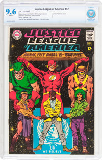 Justice League of America #57 (DC, 1967) CBCS NM+ 9.6 White pages
