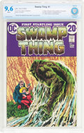 Bronze Age (1970-1979):Horror, Swamp Thing #1 (DC, 1972) CBCS NM+ 9.6 White pages....