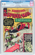 Silver Age (1956-1969):Superhero, The Amazing Spider-Man #14 (Marvel, 1964) CGC VF/NM 9.0 Off-whitepages....