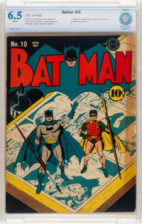 Batman #10 (DC, 1942) CBCS FN+ 6.5 White pages