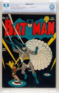 Batman #13 (DC, 1942) CBCS VF 8.0 White pages
