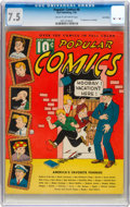 Platinum Age (1897-1937):Miscellaneous, Popular Comics #6 Lost Valley Pedigree (Dell, 1936) CGC VF- 7.5Cream to off-white pages....