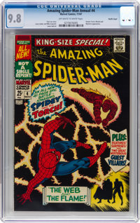 The Amazing Spider-Man Annual #4 Pacific Coast Pedigree (Marvel, 1967) CGC NM/MT 9.8 Off-white to white pages