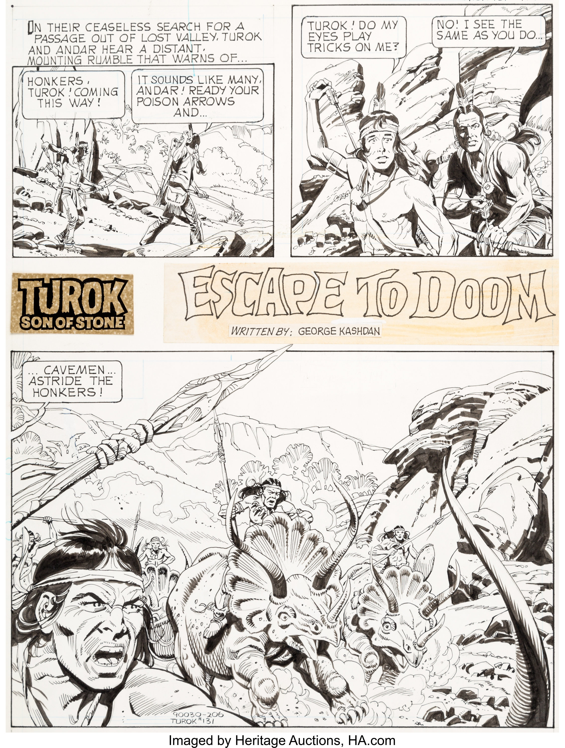 Alberto Giolitti Turok Son Of Stone 131 Unpublished Complete Lot 94133 Heritage Auctions
