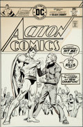 Original Comic Art:Covers, Bob Oksner Action Comics #452 Superman Cover Original Art(DC, 1975)....