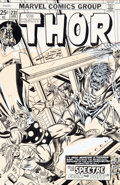 Original Comic Art:Covers, Gil Kane and Frank Giacoia with John Romita Thor #231 CoverOriginal Art (Marvel, 1975)....