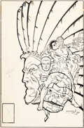Original Comic Art:Covers, Ed Hannigan and Walt Simonson Marvel Two-In-One Annual #6Cover Original Art and Preliminary Color Guide Group of ... (Total:2 Original Art)