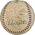 Baseball Collectibles:Balls, 1932 Tour of Hawaii Team Signed Baseball with Ruth & Foxx. ...