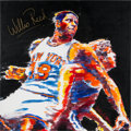 Basketball Collectibles:Others, 1990's Willis Reed New York Knicks Original Artwork by StephenVoita. ...